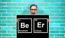 Beer Element Periodic Table Art Pint - Wall Art Print Poster   - Purple Geekery